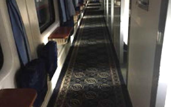 福州-北京西火车走道地毯